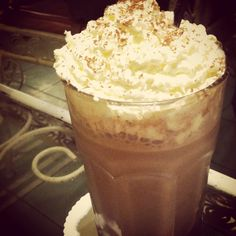Milk shake chocolate with frappe and choco powder for the topping by Carpentier Kitchen cafe