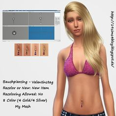 Belly Piercings by MichaelaP Sims 4 Cc Skin, Sims Cc, Toddler Makeup, Sims 4 Piercings, Mods Sims, Sims 4 Cc Furniture Living Rooms, Sims 4 Tattoos, Sims 4 Blog, Sims 4 Cc Packs