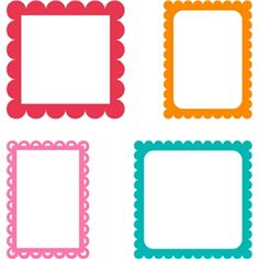 Silhouette Design Store: assorted scallop rectangle frames