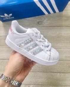 9cd6832d7fc Swarovski Pre school Adidas Original Superstar Made with SWAROVSKI® Xirius  Rose Crystals - White monochrome