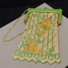 whiting and davis bags antique 1920s enameled beadlite - Google Search