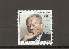 Willy Brandt postage stamp - Germany