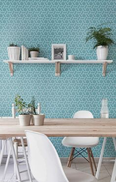 Self adhesive vinyl wallpaper, wall decal - Geometric Hex print - 029