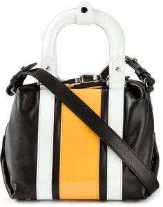 ff90360e76 Carven small racer stripe tote Striped Tote Bags