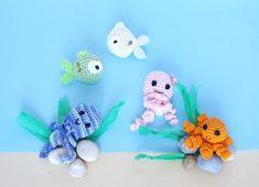 schema per realizzare meduse amigurumi