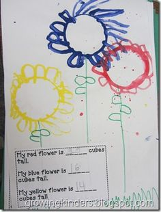 Flower art and measuring activity, must try!
