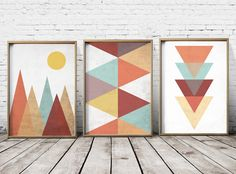 Nordic Print Scandinavian Art Wall Art Mountain by PrintEclipse