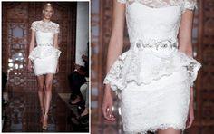 vestido de noiva peplum