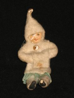 Spun Cotton Snow Girl with Cotton Cloths Victorian Christmas Ornament Germany | eBay