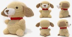 návod - i crochet things: Free Pattern Friday: Puppy Amigurumi Cute Crochet, Crochet Crafts, Crochet Baby, Crochet Projects, Knit Crochet, Crochet Things, Easy Crochet, Crochet Amigurumi Free Patterns, Crochet Dolls