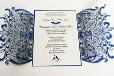 35 sets  laser cut wedding invitation by WeddingFavorStore on Etsy