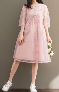 Stylish Dresses For Girls, Stylish Dress Designs, Modest Dresses, Cute Dresses, Casual Dresses, Girls Dresses, Pink Dresses, Indian Fashion Dresses, Girls Fashion Clothes