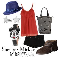 I like the top. And the idea of dressing sorcerer mickey inspired. :)
