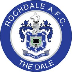 Rochdale Association Football Club – Wikipédia, a enciclopédia livre Soccer Logo, Football Team Logos, Arsenal Football, Soccer Teams, English Football Teams, British Football, Fifa, Association Football, Gardening