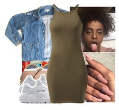 """"""""""" by l-ondonbridge ❤ liked on Polyvore featuring GUESS and NIKE"""