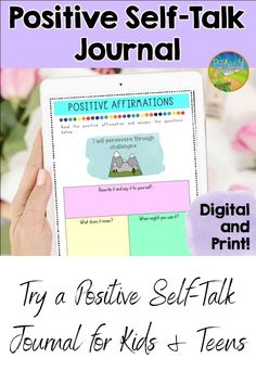 A printable and digital positive self-talk journal for kids and teens! Use these worksheets to help kids learn the power of positive affirmations and self-talk. These are great learned to boost confidence and use as a daily coping strategy. Social Emotional Learning, Social Anxiety, Social Work, Social Skills, Anger Management For Kids, Generalized Anxiety Disorder, Positive Self Talk, Help Kids, Phobias