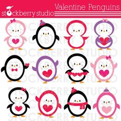 Hey, I found this really awesome Etsy listing at https://www.etsy.com/listing/64549102/valentine-penguins-personal-and