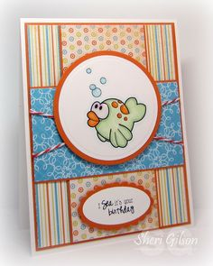 Another simple colourful card suitable for my Kanban or Lawn Fawn animal stamps