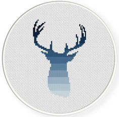 FREE for March 29th Only - Deer Silhouette Cross Stitch Pattern