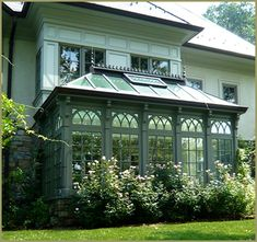 Vintage Greenhouses & Potting Sheds - Victoria Elizabeth Barnes - Beautiful Thin. - Vintage Greenhouses & Potting Sheds – Victoria Elizabeth Barnes – Beautiful Thingsss – Vintag - Small Conservatory, Victorian Conservatory, Conservatory Design, Outdoor Rooms, Outdoor Living, Pergola, Gazebos, Small Greenhouse, Greenhouse Attached To House