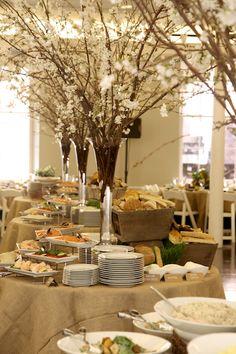 Green Natural Bar Mitzvah Party by Florie Huppert Design - mazelmoments.com