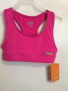 0233ac2a2ae1e Avia Sports Bra Girls Size M 7 8. Dance Cheer Gymnastics Top Perfect Pink