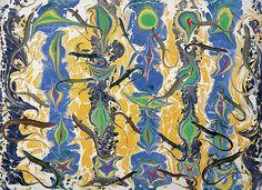 Lizard Music - Philip Taaffe - Oil Pigment on Linen