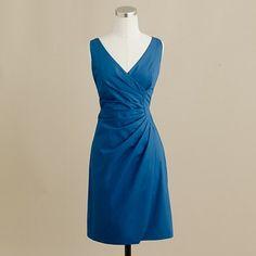 Brocade blue bridesmaid dress