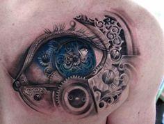 Steampunk tattoo -- wow...just wow