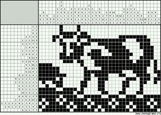 Cross Stitch Cow, Cross Stitch Animals, Cross Stitch Patterns, Filet Crochet, Crochet Chart, Knitting Charts, Knitting Patterns, Knitted Jackets Women, Postage Stamp Quilt