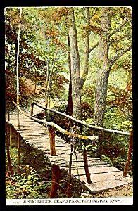 IOWA: Crapo Park Rustic Bridge, Burlington