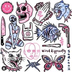 Dope Tattoos, Pretty Tattoos, Mini Tattoos, Body Art Tattoos, Small Tattoos, Tattoo Sketches, Tattoo Drawings, Art Sketches, Tattoo Flash Sheet