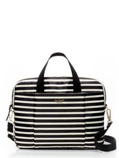 classic nylon stripe laptop commuter bag - kate spade new york