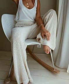 Summer Fashion Tips Solid Ribbed Casual Wide Leg Pants - shopingnova.Summer Fashion Tips Solid Ribbed Casual Wide Leg Pants - shopingnova Mode Outfits, Casual Outfits, Fashion Outfits, Womens Fashion, Fashion Shoes, Party Fashion, Comfortable Outfits, Fashion Jewelry, Jean Outfits