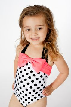 194e0d3b9e toddler girls swimming suits clothes. Love U Lots Black and White Retro One  Piece-UPF 50+!Sizes 2T