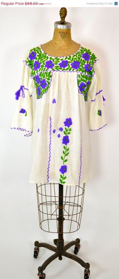 ETSY SALE HIPPIE Top Ethic Embroidered Top // by MyrtleBedford, $66.00