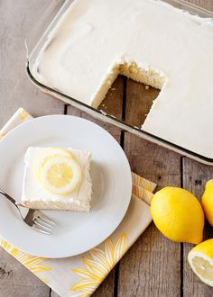 If you're looking for a summertime dessert, this lemon sheet cake is it.