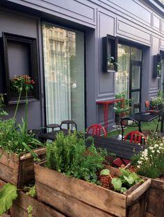 Création d'espace: aménagement de la terrasse du Streets Hôtel à Paris