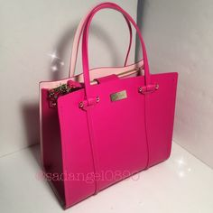 """❥❥$378 SMALL ELODIE KATE SPADE ABOUR HILL TOTE❥❥ • Color: sweetheart/posypink • Measurment: 11""""-9""""-5"""" • Real photo  taken from me • Brand new✨, never used,100% authentic from Kate Spade New York • Tag, strap, and care card are included • Pack with careand ship✈️right away • Freegiftincluded with purchase of $100+  •TradeP.P.Hold • Plz use BUNDLE option for 10% off • Plz use OFFER button for reasonable offers. I said """"YES"""" most of the time. kate spade Bags Totes"""