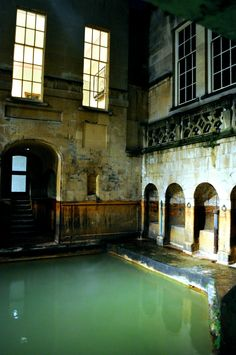 old roman baths, Bath, England
