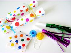 Polka Dot Birthday Party Crackers from Gillian Crackers!!
