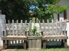 "Benches from pallets...pinned to ""It's a Pallet Jack"" by Pamela"