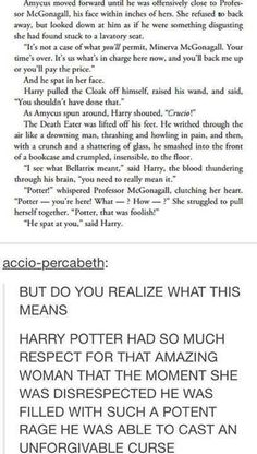 Why does this fandom know EXACTLY how to make you cry? This thought about Teddy Lupin.  roachpatrol.tumblr.com This sweet moment between Harry and McGonagall.  accio-percabeth.tumblr.com This wonderfu Harry Potter Universal, Harry Potter Fandom, Harry Potter World, Harry Potter Memes, Harry Potter Book Quotes, Harry Potter Tumblr, Harry Potter Conspiracy Theories, Harry Potter Marauders, Albus Dumbledore
