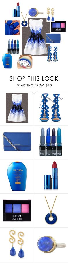 """Bez naslova #172"" by alma-ja ❤ liked on Polyvore featuring WithChic, Christian Louboutin, MICHAEL Michael Kors, Shiseido, Lipstick Queen, NYX, Charter Club, Splendid Company and Jamie Joseph"