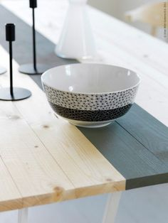 Create your own dinning room table, or whatever kind of table from this swedish blog, livethemma.ikea.se Oh look, there is IKEA in there.