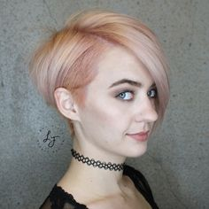 Rose gold pixie by Leah Fitts