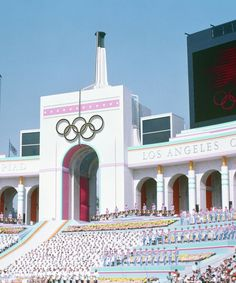 Olympic Torch Tower of the Los Angeles Coliseum.