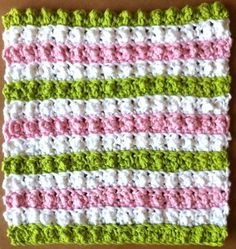Textured Stripes Dishcloth