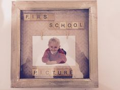 School photo peg picture  scrabble photo frame by Littlestthings0