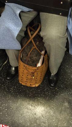 "Would you put a 600.00 MCM bag on the subway floor?: U njujorškom @museumatfit  u toku je modna izložba ""Faking It - Originals, Copies and Counterfeits"". Tema originala i kopija veoma je aktuelna i kada su tašnice u pitanju… #tašnice #fakingitfashion #museumatfit"